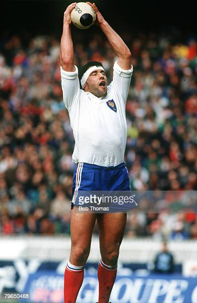 Sport, Rugby Union, pic: 18th February 1989, 5 Nations Championship, Paris, France v Wales Jean Condom, France, Jean Condom who played lock forward...