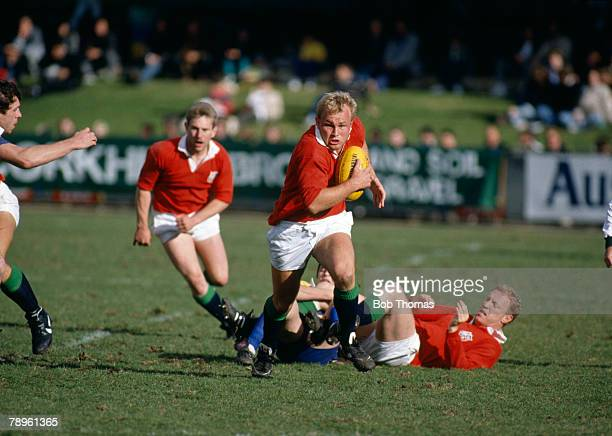 1989 1989 British Lions Tour of Australia Capital Territories v British Lions Lions flanker Andy Robinson races away with the ball