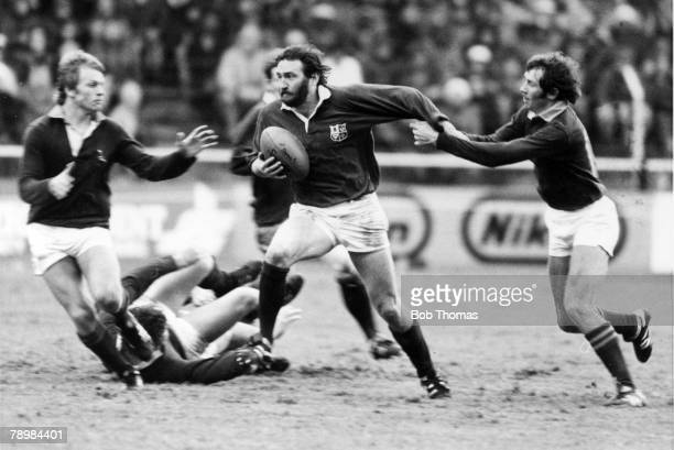 Sport, Rugby Union, pic: 26th June 1980, British Lions Tour of South Africa, 3rd Test Match, South Africa 12 v British Lions 10, Lions' Ray Gravell...