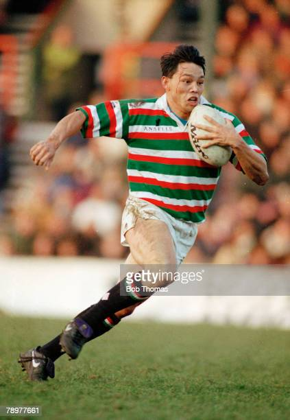 28th December 1992 Leicester v Barbarians Leicester wing Rory Underwood on the attack Rory Underwood played in 85 international matches for England...