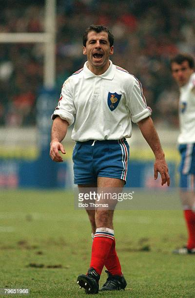 Sport, Rugby Union, pic: 2nd March 1991, Five Nations Championship, Paris, France 36 v Wales 3, Pierre Berbizier, France