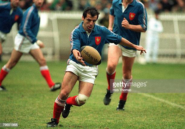 Sport, Rugby Union, pic: 3rd February 1990, Five Nations Championship, Paris, France 7 v England 26, Pierre Berbizier, France