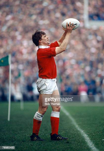 February 1989 5 Nations Championship in Dublin Ireland 9 v Wales 18 Mike Watkins Wales captain