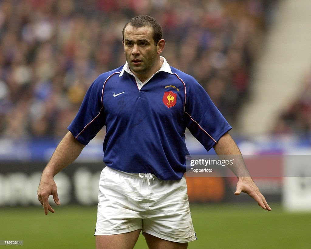 PF Sport. Rugby Union. Six Nations. Paris, France, 2nd March 2002. France 20 v England 15. Jean-Jacques Crenca, France. : News Photo