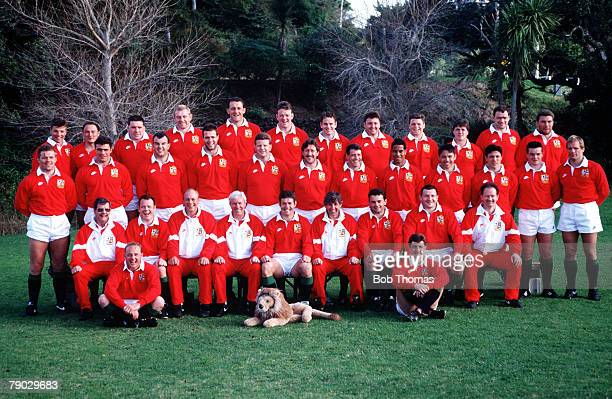 Sport Rugby Union The British Lions squad line up together for a group photograph prior to their tour of New Zealand