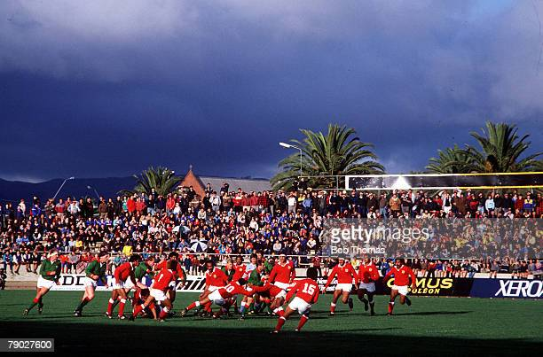 Sport Rugby Union World Cup Palmerston North New Zealand 29th May 1987 Wales 29 v Tonga 16 The match takes place under heavy storm clouds at the...