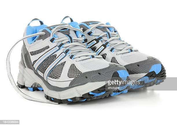 sport shoes - gray shoe stock pictures, royalty-free photos & images