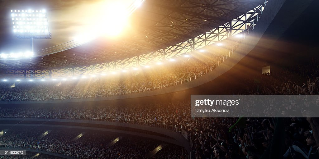 Sport stadium tribunes : Stock Photo