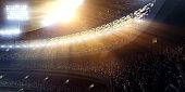 Sport stadium tribunes