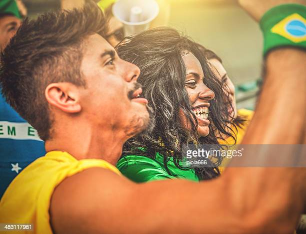 Sport-Fans: Ein Mädchen-fan des brasilianischen team