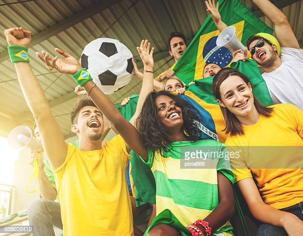 Sport supporters: fans of the Brazilian team