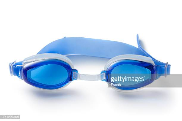 Sport: Swiming Goggles Isolated on White Background