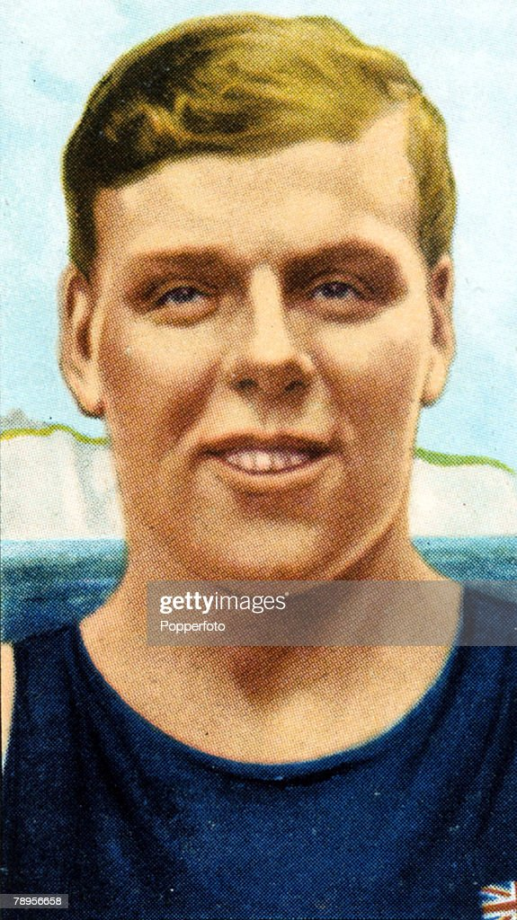 Sport. Swimming. pic: circa 1936. E.H.Temme, English swimmer, who was the first man to swim the English Channel both ways in 1927 France to England,and 1934 from England to France, also representing England at water polo in the 1928 Olympic Games. : ニュース写真