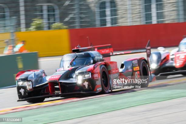 8Audi Sport Team Joest R18 e-tron quattro Le Mans Prototype race car driven by Lucas di Grassi, Loïc Duval and Oliver Jarvis driving on track during...