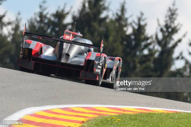 Sport Team Joest R18 etron quattro Le Mans Prototype race car driven by Lucas di Grassi Loïc Duval and Oliver Jarvis driving on track during the 6...