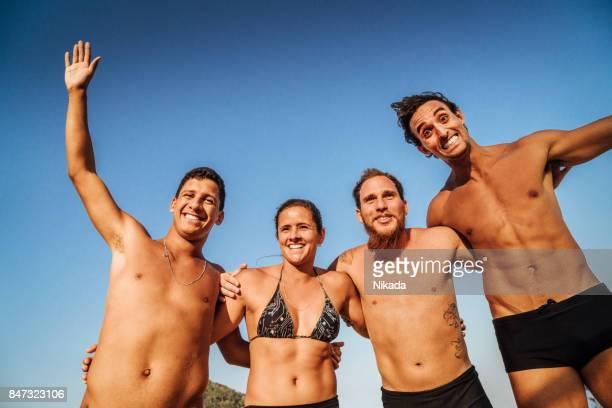 Sport Team posing for a picture in Rio de Janeiro, Brazil