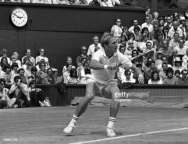 Sport Tennis All England Lawn Tennis Championships Wimbledon England 3rd July 1971 Mens Singles Final USA's Stan Smith is pictured as he loses the...