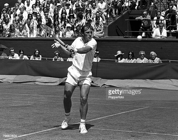 Sport Tennis All England Lawn Tennis Championships Wimbledon England 22nd June 1970 Mens Singles Australia's Tony Roche is pictured during his...