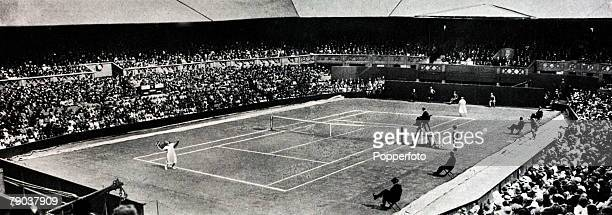 Sport Tennis All England Lawn Tennis Championships Wimbledon London England Ladies Singles Final A general view of the Ladies Singles Final on the...