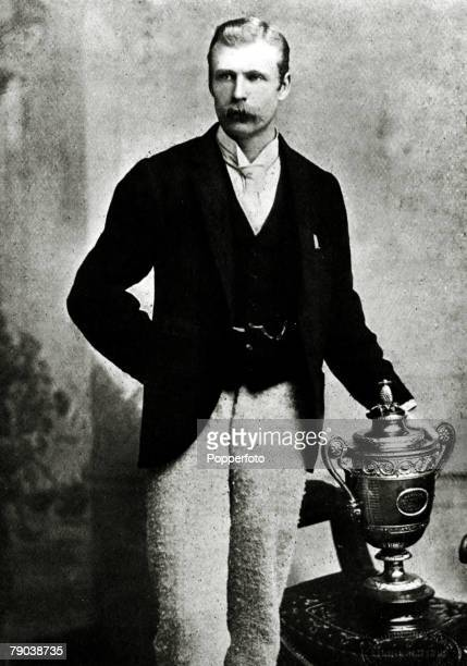 Sport Tennis All England Lawn Tennis Championships Wimbledon London England pic 1890 RHWilloughby James Hamilton the 1890 Mens Singles Champion known...