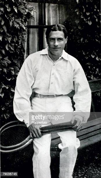 Sport Tennis All England Lawn Tennis Championships Wimbledon London England pic 1902 Laurie Doherty Great Britain who was the Mens Singles Champion...