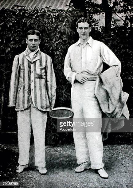 Sport Tennis All England Lawn Tennis Championships Wimbledon London England Reggie Doherty Great Britain who with his brother Laurie dominated tennis...