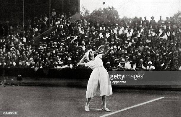 Sport Tennis All England Lawn Tennis Championships Wimbledon London England Suzanne Lenglen the great French champion who won the Ladies Singles...