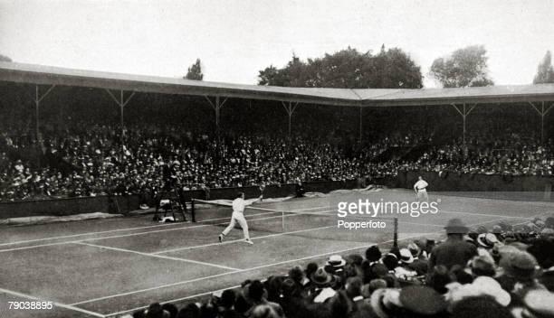 Sport Tennis All England Lawn Tennis Championships Wimbledon London England The 1919 Mens Singles Final contested between Gerald Patterson Australia...