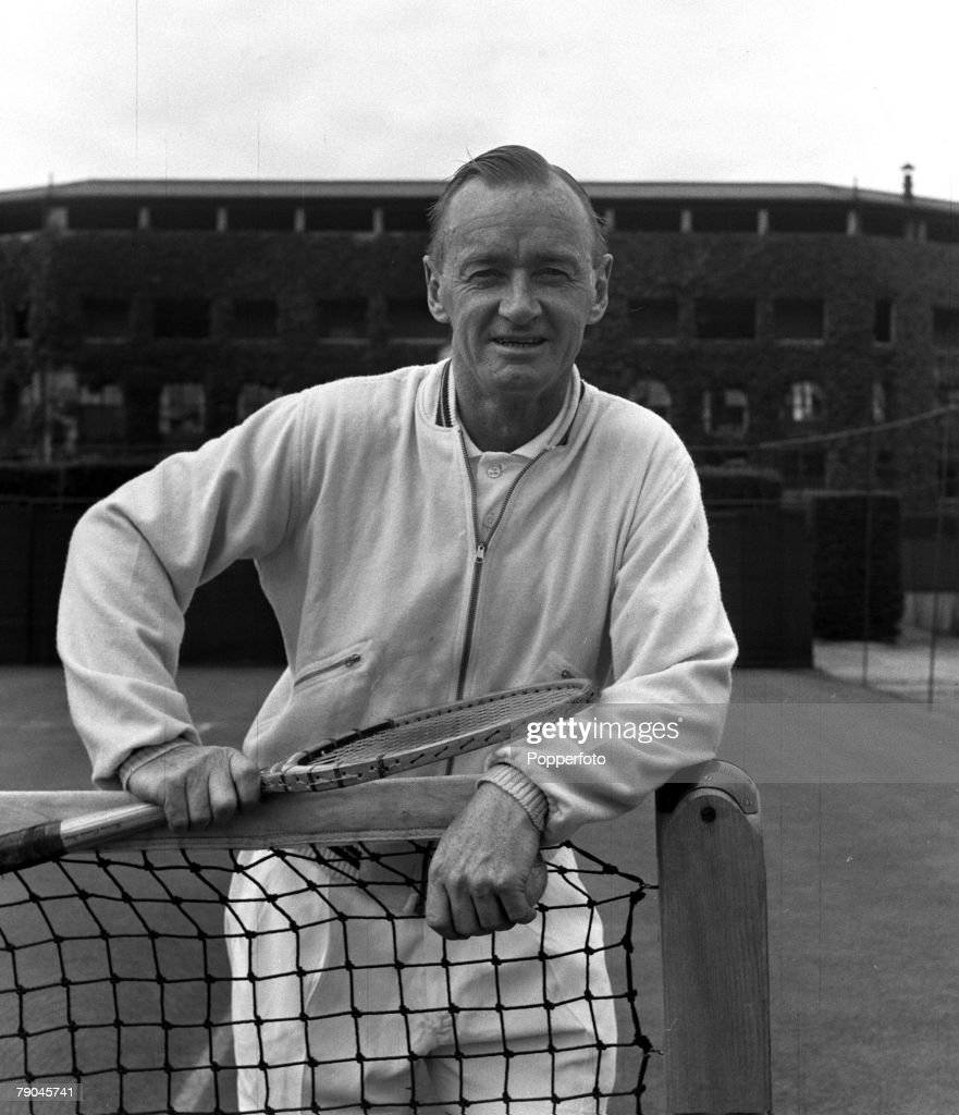 Sport. Tennis. London, England. 1954. A portrait of Australian Tennis coach Harry Hopman seen here at Wimbledon. : News Photo