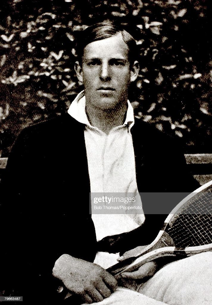 Sport, Tennis, Pic: Circa 1907, Anthony ,Tony Wilding, New Zealand, who was Wimbledon Mens Singles Champion 8 times in the early part of the 20th century : News Photo