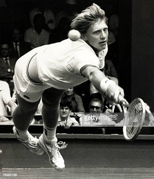 circa 1988 West Germany's Boris Becker playing at Wimbledon Boris Becker was one of the great players of the 1980's and won the Mens Singles at...
