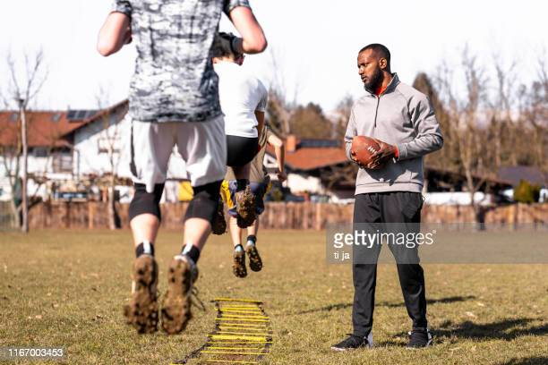 sport training outdoors - sports training drill stock pictures, royalty-free photos & images