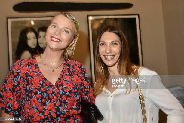 Sport TV presenter France Pierron from L Equipe 21 and Katarina Bajic from Champion Spirit attend the 'Champion Spirit' Rive Gauche Launch Party at...