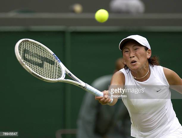 Sport Wimbledon Lawn Tennis Championships London England 30th June 2003 Ladies Singles Ai Sugiyama Japan