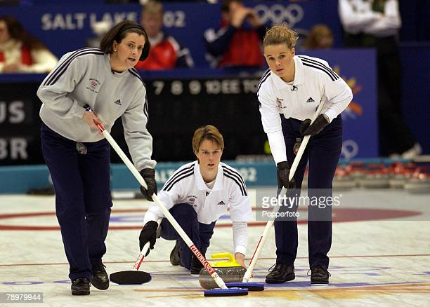 Sport Winter Olympic Games Salt Lake City Utah USA 14th February 2002 Curling Womens Round Robin Session 5 Great Britain v Russia Great Britain's...