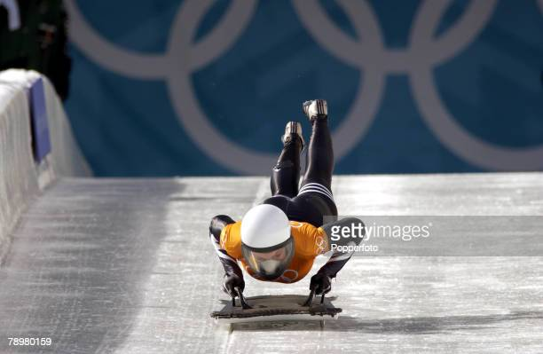 Sport Winter Olympic Games Salt Lake City Utah USA 17th February 2002 Skeleton Michelle Kelly Canada