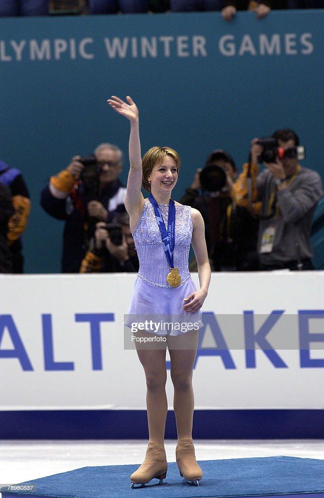 PF Sport. Winter Olympic Games. Salt Lake City, Utah, USA. 21st February 2002. Figure Skating. Ladies. Sarah Hughes, USA. Gold Medal winner. : News Photo