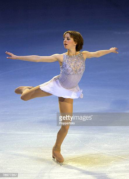 Sport Winter Olympic Games Salt Lake City Utah USA 22nd February 2002 Figure Skating Exhibition Ladies Sarah Hughes USA Gold Medal winner