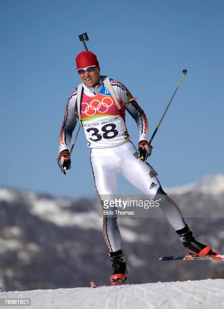 Sport, Winter Olympic Games, Torino, Italy, 10th - 26th February 2006, 11th February, Biathlon, Mens 20Km Individual, Michael Greis of Germany, Gold...