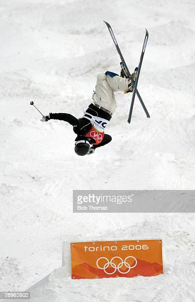 Sport, Winter Olympic Games, Torino, Italy, 10th - 26th February 2006, 15th February, Freestyle Skiing, Mens Moguls, A skier jumping high against the...