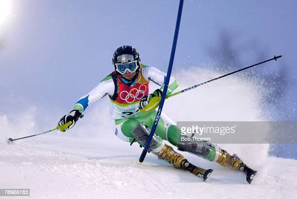 Sport Winter Olympic Games Torino Italy 10th 26th February 2006 22nd February Alpine Skiing Ladies Slalom Anne Sophie Barthet of France