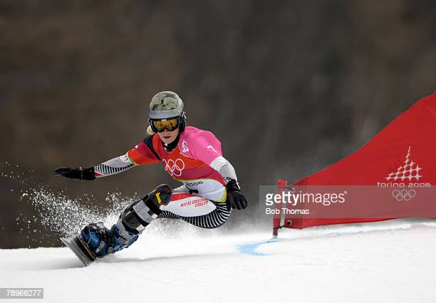 Sport Winter Olympic Games Torino Italy 10th 26th February 2006 23rd February Snowboard Ladies Giant Parallel Slalom Heidi Krings of Austria