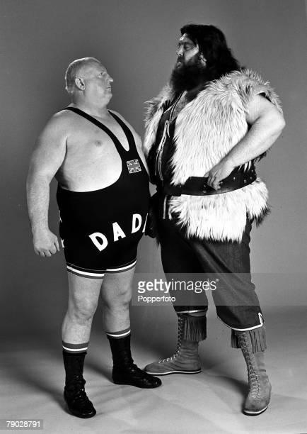 Sport Wrestling England 13th February 1979 British wrestlers Big Daddy and Giant Haystacks