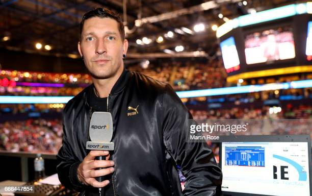Sport1 handball expert Stefan Kretzschmar looks on before the Rewe Final Four final match between SG FlensburgHandewitt and Thw Kiel at Barclaycard...