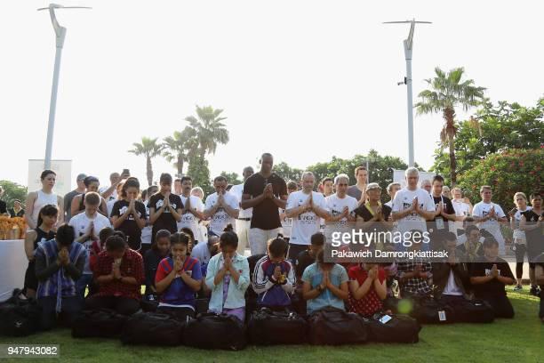 SportAccord and GAISF President Partick Baumann ARISF President Raffaele Chiulli former NBA player Bismack Biyombo and delegates pose for photographs...