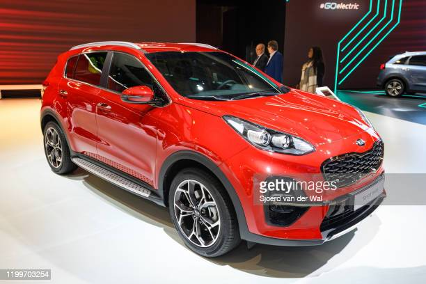Sportage compact SUV on display at Brussels Expo on January 9, 2020 in Brussels, Belgium.