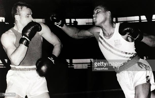 Sport/Boxing 1960 Olympic Games Rome Italy September 1960 America's Cassius Clay in action during the Games he won the Gold medal in the...