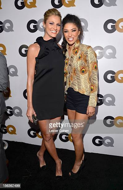 Sportcaster Erin Andrews and actress Jessica Szohr arrives at the GQ Men of the Year Party at Chateau Marmont on November 13 2012 in Los Angeles...