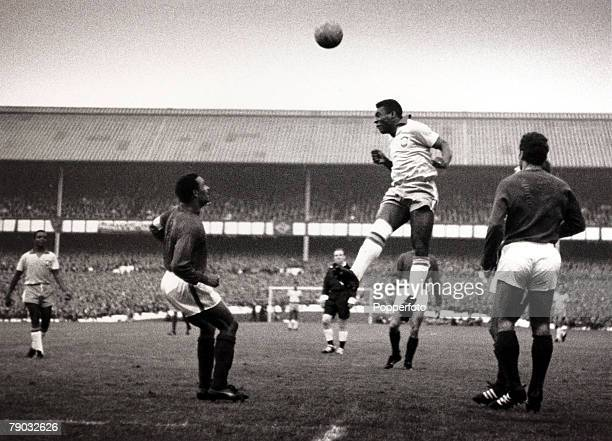 Sport/Football 1966 World Cup Finals Goodison Park England 19th July 1966 Group Three Portugal 3 v Brazil 1 Brazil's Pele jumps above the Portugal...