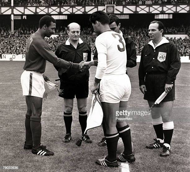 Sport/Football 1966 World Cup Finals Quarter Final Goodison Park England 23rd July 1966 Portugal 5 v North Korea 3 The Portugal captain Mario Coluna...